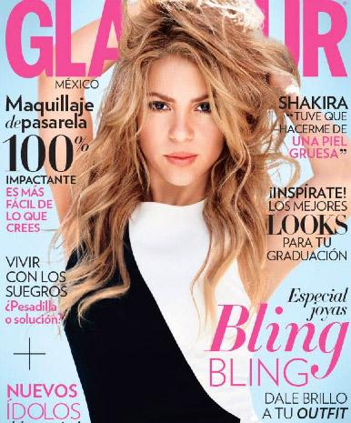 Shakira en revista Glamour