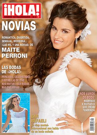 Maite Perroni vestida de novia en Revista HOLA