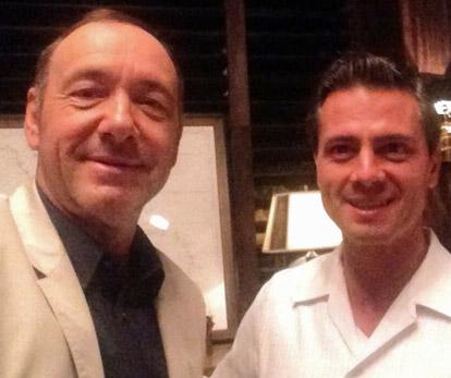 Kevin Spacey con Enrique Peña Nieto