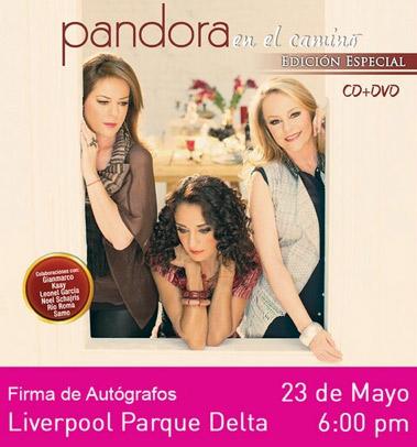 Pandora Firma de autógrafos