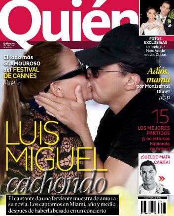 Luis Miguel y su novia en Quién