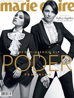 Angélica Rivera y Sofía castro en portada de Marie Claire