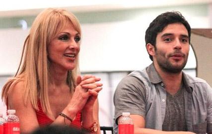 Olivia Collins y Agustin Arguello