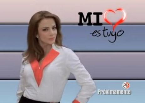 Silvia Navarro en los promos de Mi corazón es tuyo