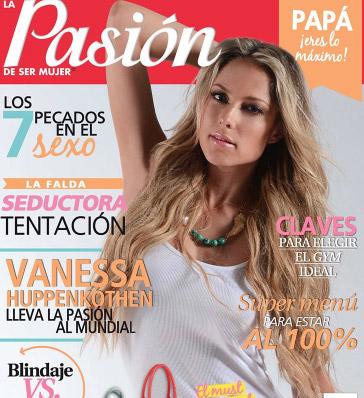 Vanessa Huppenkothe en Revista Pasión