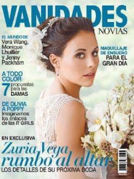 Zuria Vega vestida de novia en revista Vanidades