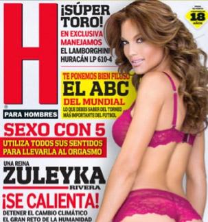 Zuleyka Rivera en revista H