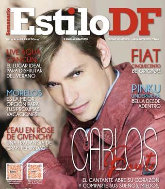 Carlos Baute en portada de Estilo DF