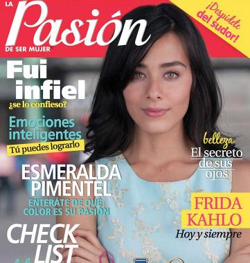 Esmeralda Pimentel en la revista Pasión