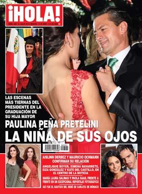 Enrique Peña Nieto en la graduación de su hija Paulina