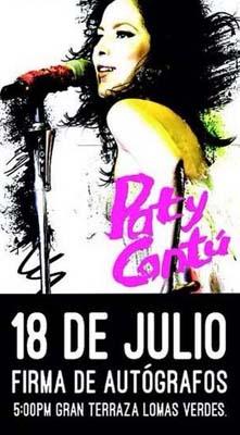 Firma de autógrafos de Paty Cantú 18 de julio en Lomas Verdes