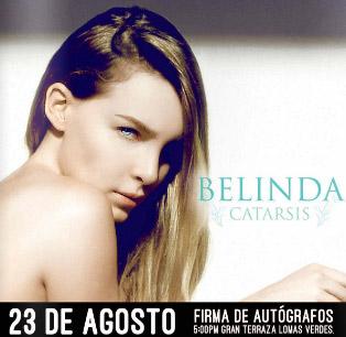 Firma de autógrafos de Belinda 23 de agosto