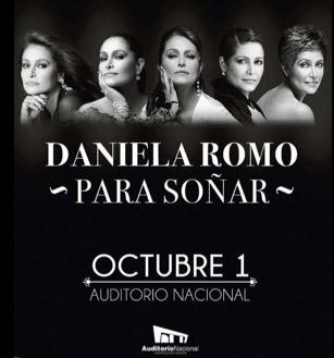 Daniela Romo 1 de octubre en Auditorio Nacional