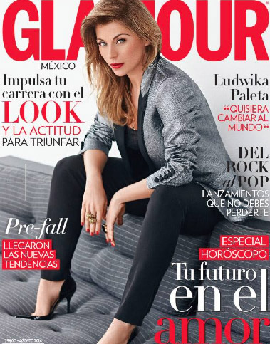 Ludwika Paleta en revista Glamour