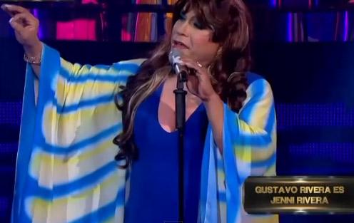 Gustavo Rivera imitó a su hermana Jenni en Soy tu doble