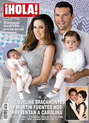 Jacky Bracamontes presenta a su hija Carolina en HOLA