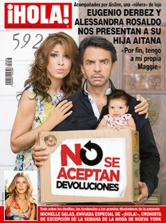 Alessandra Rosaldo y Eugenio Derbez presentan a su hija