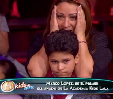 Marco López expulsado de La Academia Kids