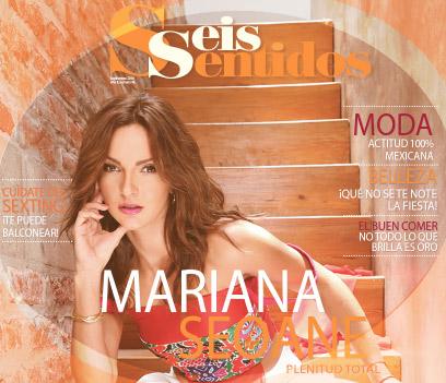 Mariana Seoane en revista Seis Sentidos