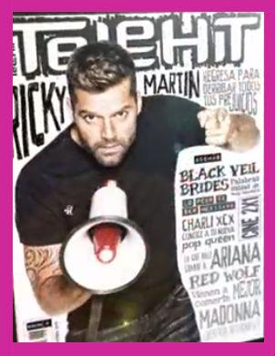 Ricky Martin en revista Telehit