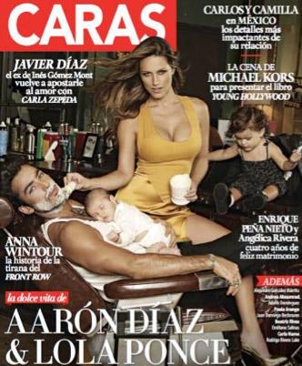 Aaron Díaz en Caras