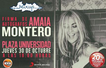Amaia Montero Firma de autógrafos