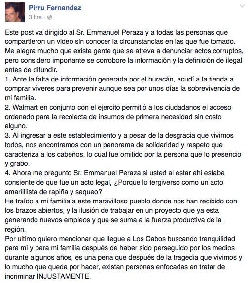 Comunicado de El Pirru