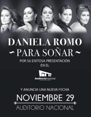 Daniela Romo 29 de noviembre en Auditorio Nacional