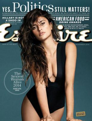 Penélope Cruz La mujer viva más sexy en Esquire