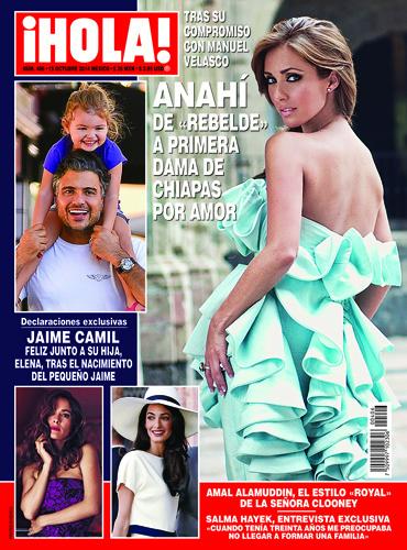 Anahí como la primera dama de Chiapas en Revista HOLA