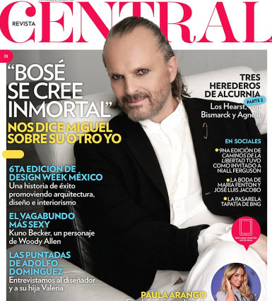 Miguel Bosé en revista Central