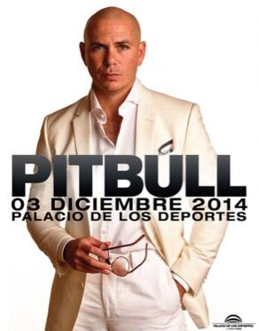 Pitbull 3 de diciembre en el Palacio de los Deportes