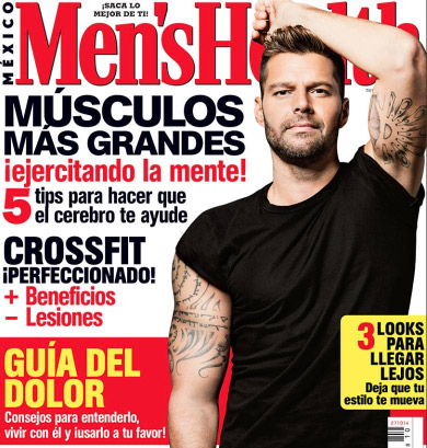 Ricky Martin en revista Mens Health
