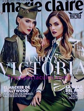 Belinda y Ximena Navarrete en portada de Marie Claire