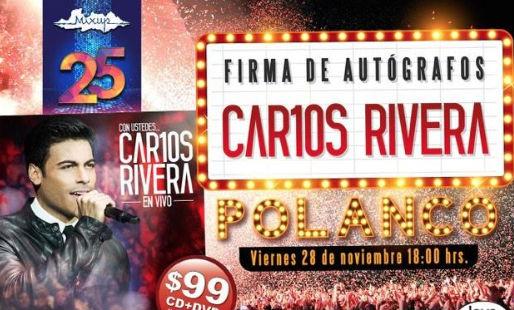 Firma de autógrafos de Carlos Rivera en Polanco