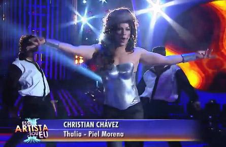 Christian Chávez imitó a Thalía