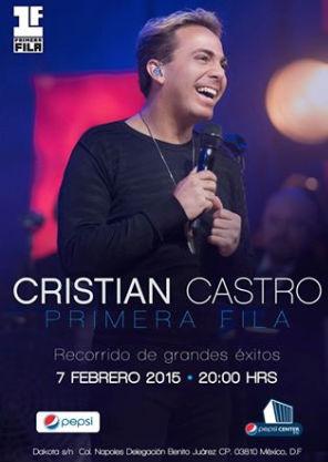 Cristian Castro 7 de febrero en Pepsi Center