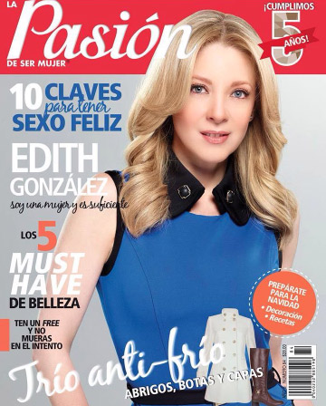 Edith González en revista Pasión