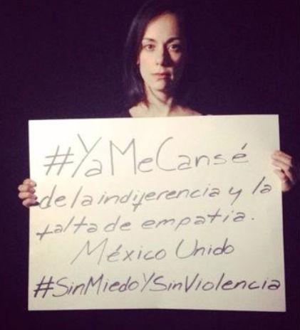 Famosos piden justicia en México