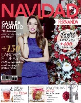 Galilea Montijo festeja la Navidad con la revista Fernanda