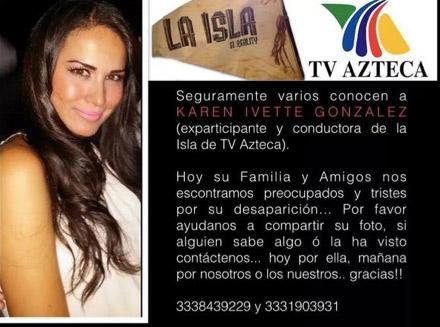 Karen Ivette desaparecida