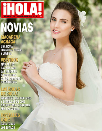 Macarena Achaga vestida de novia en Hola