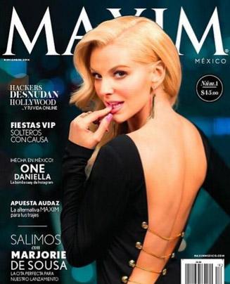 Marjorie de souza en revista Maxim