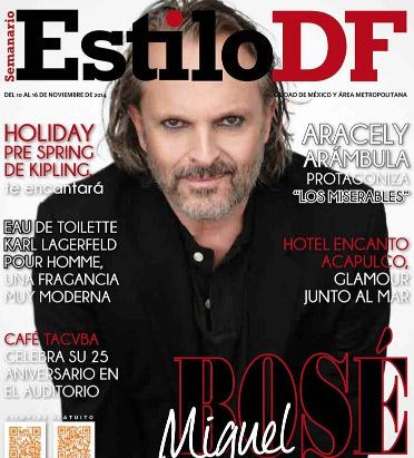 Miguel Bosé en revista Estilo DF