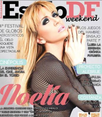 Noelia en Revista Estilo DF