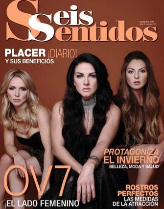 El lado femenino de OV7 en la revista Seis Sentidos