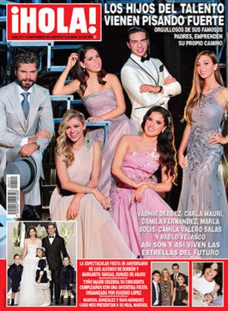Revista Hola con los hijos de los famosos