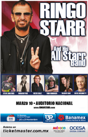 Ringo Starr 10 de marzo en Auditorio Nacional