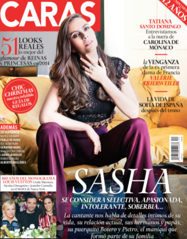 Sasha en revista Caras
