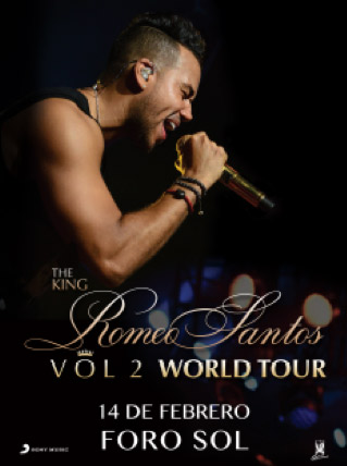 Romeo Santos 14 de febrero en el Foro Sol